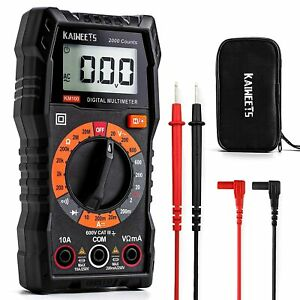 Kaiweets Digital Multimeter Iec Rated Cat Iii 600v Ce And Rohs Certified Km 100