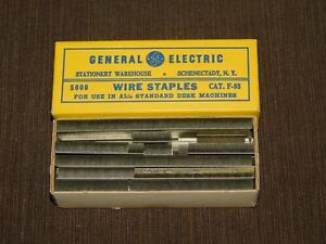 Vintage Desk Ge General Electric Warehouse Schenectady Ny Wire Staples Cat F 93