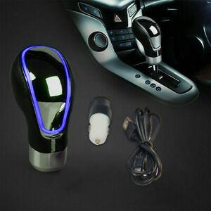 Activated Sensor Discoloration Led Light Gear Shift Knob Multicolor Usb Charger