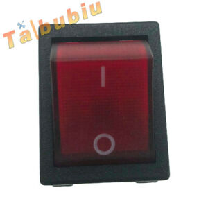 New Canal Rocker Switch R Series Red Illuminated Double Pole 20a 16a 4 Pin
