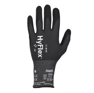 3 Pair Ansell Hyflex 11 840 Foam Nitrile Gloves Size 9 Brand New fast Shipping
