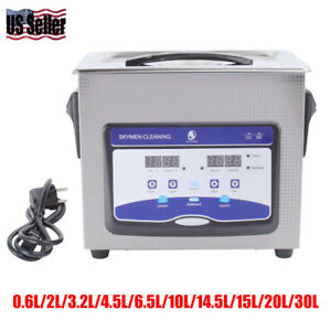 Digital Stainless Ultrasonic Cleaner Ultra Sonic Bath Cleaning Tank Timer
