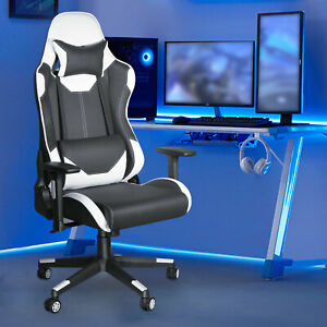Gaming Racing Chair Leather Office Chair Ergonomic Swivel Recliner Computer Seat