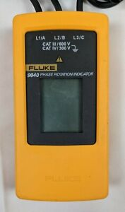 Fluke 9040 Phase Rotation Indicator no Clamps Good Cond Cleaned