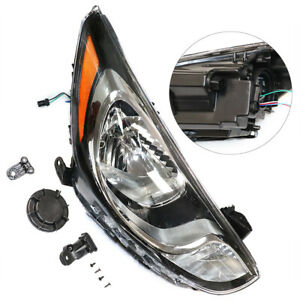 Right Side Halogen Headlight Headlamp Lens Assembly For 2012 2014 Hyundai Accent