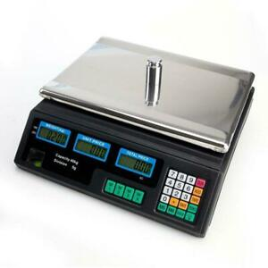 88lb Digital Weight Scale Price Computing Food Meat Produce Deli Market 2 Screen