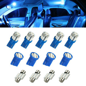 13x 8000k Led Interior Lights Bulbs Kit Dome License Plate Lamps Car Accessories