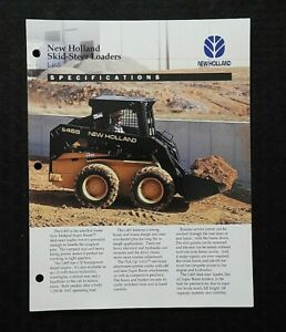 New Holland Lx465 Skid Steer Loader Tractor Specifications Brochure Minty