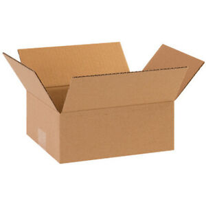 8 X 6 X 2 Flat Corrugated Boxes Brown Shipping moving Boxes 50 Pieces