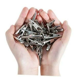 50 Pcs 1 73in 44mm Metal Alligator Clips Crocodile Clamps Spring Clips