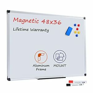 Magnetic Dry Erase Whiteboard 48 X 36 Inches 4 X 3 Large White Board 48 36