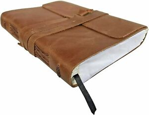 Leather Journal Notebook Handmade Diary Writing Bound Book Refillable Sketchbook