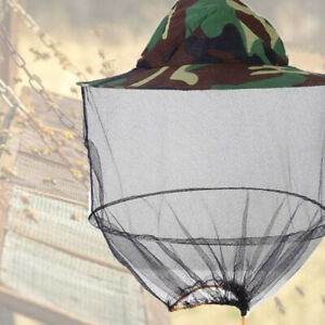 Mosquito Net Hat Outdoor Mesh Cap Head Face Protector Sun Shade Insect Bee Fly