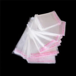 100pcs bag Opp Clear Seal Self Adhesive Plastic Jewelry Home Packing Bags Tm
