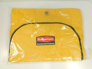 Rubbermaid 1966719 Zippered Vinyl Cleaning Cart Bag Yellow 1966881 6183