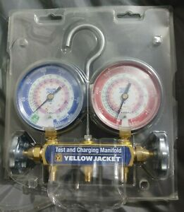 Yellow Jacket 42001 Series 41 Manifold Only 3 1 8 Gauges R 22 404a 410a