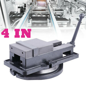 4in 19kn Max Bench Clamp Lock Vise With 360 Swivel Base Milling Machine New Us