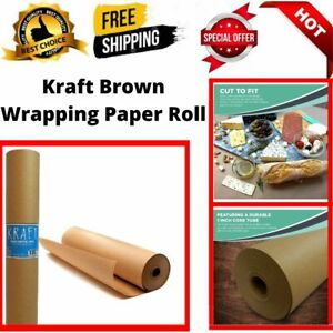 Kraft Brown Wrapping Paper Roll 30 X 2 400 200 Ft 100 Recyclable Craft
