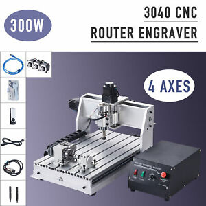 3040 Cnc Router Machine 4 Axis Wood Cutter Engraver With Usb Port For Craftsmen