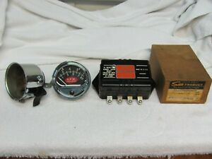 Vintage 1962 Sun Tachometer 8 5 Red Football With Transmitter W Cup 12v Awesome