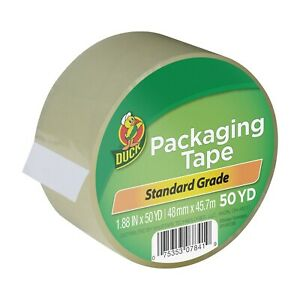 2 Rolls Clear Duck Packaging Packing Carton Shipping Tape 1 88 X 50 Yards