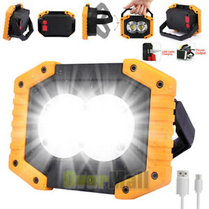 100000lm Portable Led Work Light Car Garage Mechanic Usb Rechargeable Torch Lamp