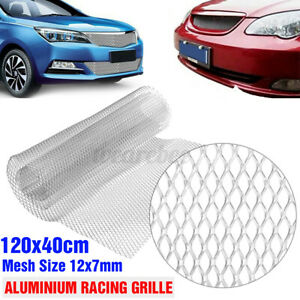 Silver Rhombus Aluminium Racing Grille Mesh Vent Car Tuning Grill 47 X 16 Inch Fits 1966 Gto