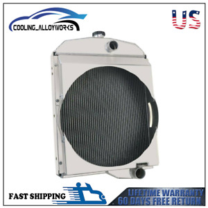 Oliver Tractor Aluminum Radiator For 1550 1555 1600 1650 1655 Model 163342as