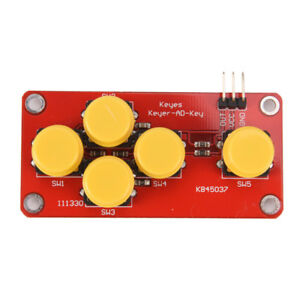 Analog Button For Arduino Keyboard Electronic Block Simulate Five Key Moduyj Tm