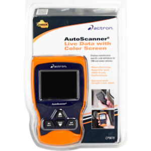 Actron Autoscanner Live Data With Color Screen Displays Manufacturer Specifi
