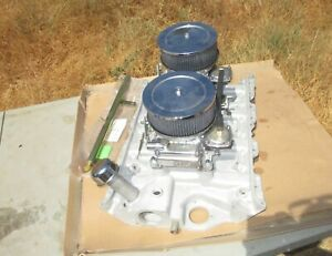 Weiand Ford Fe 390 428 Dual Quad Intake Manifold Holley Carbs 2x4 Say Why And