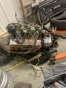 Chevy 350 Engine And Transmission With Powerglide Transmission And Quadrajet C