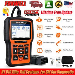 Foxwell Nt510 Elite For Gm Chevrolet Diagnostic Tool Scanner Abs Srs Dpf Bms Oil