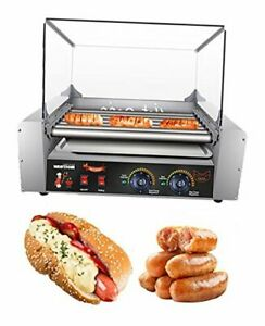 Hot Dog Grill Machine Commercial Electric Hot Dog 7 Roller Machine Sausage