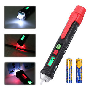 Lcd Ac Non contact Electric Test Pen Voltage Digital Detector Tester 12 48 1000v