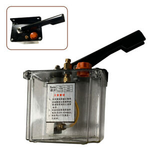 600cc Hand Hydraulic Lubricant Pump Manual Lubricating Oil Tool For Lathes