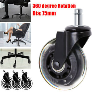Set Of 5 Universal Office Chair Caster Wheels Replacement 3 Inch Roller Us Stock