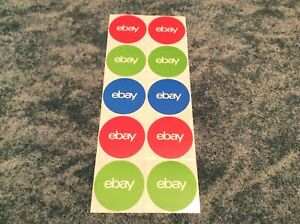 10 Stickers Classic Round Ebay Stickers 3 X 3 Office Supplies New Unused