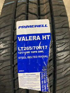 4 New Lt 265 70 17 Lre 10 Ply Primewell Valera Ht Tires Fits 26570r17