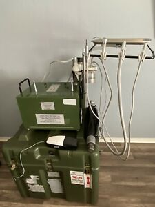 Portable Dental Unit With Compressor And Suction Includes 2 Electric Handpieces