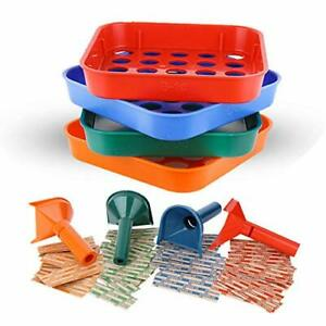 Coin Counters Tubes Coin Sorters Tray 4 Color coded Coin Sorting Tray