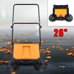 15l All Weather Spinning Rotate Hand Push Sweeping Sweeper 26 industrial Sweeper