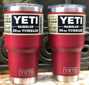 AUTHENTIC YETI Rambler 30 oz Tumbler with Magslider Lid: Harvest Red $35.90