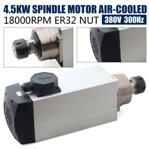 Er32 Air Cooling Spindle Motor 4 5kw Cnc Router Milling Woodworking 18000rpm
