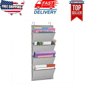 Wall Mount Over Door File Hanging Storage Organizer 4 Large Office Supplies