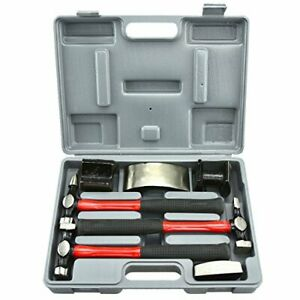 New Listingneiko 20709a Heavy Duty Auto Body Hammer And Dolly Set 7 Piece Repair Kit For