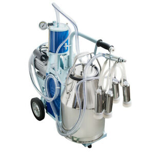 Electric Milking Machine Milker For Farm Cows Bucket 25l Stainless Bucket Tool