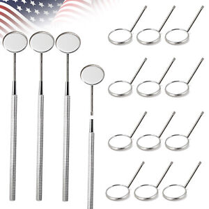 Dental Stainless Steel Mouth Mirror W Cone Handle Dental Mouth Mirror Head Usa