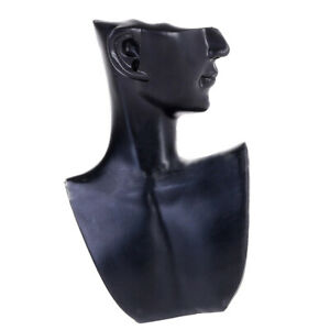 Female Necklace Jewelry Head Mannequin Bust Display Resin Material Black
