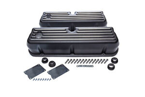 Racing Power Co Packaged Black Aluminim Valve Covers Fits Ford Sbf Tall R6175bk